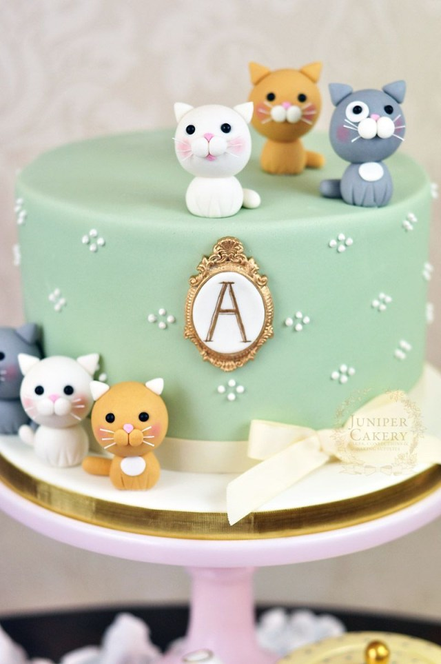 Cat Cakes For Birthdays Adorably Sweet Kitten Themed Cake Cakes Pinterest Cake