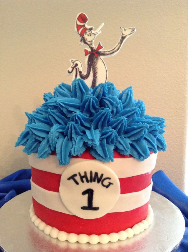 Cat In The Hat Birthday Cake Cat In The Hat Cake Cat Hat Cake Pinterest Cake Birthday And