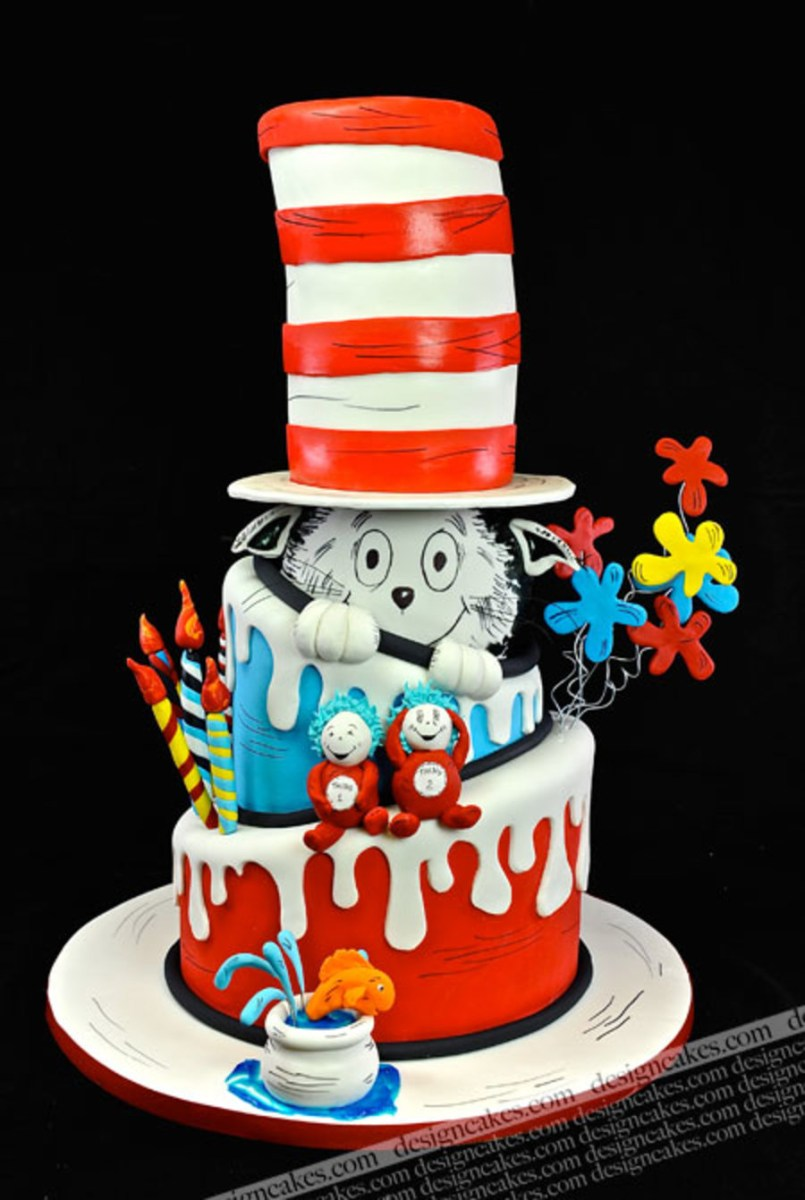 Cat In The Hat Birthday Cake Cat In The Hat Cake Drseuss Cake