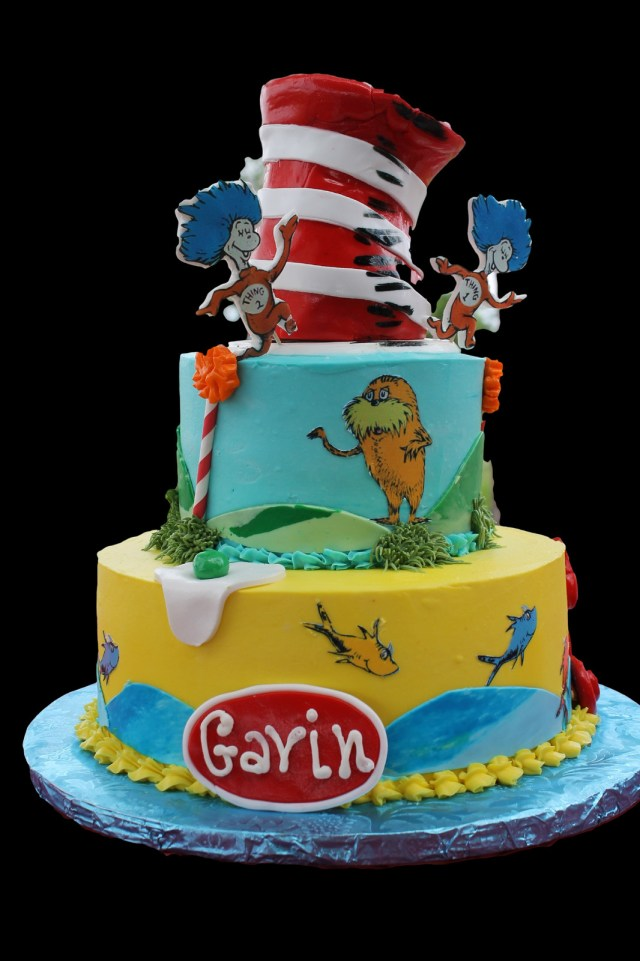 Cat In The Hat Birthday Cake Dr Suess Cat In The Hat Birthday Cake