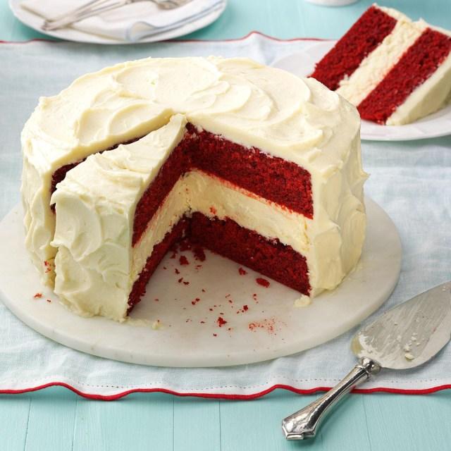 Cheesecake Factory Birthday Cake Cheesecake Layered Red Velvet Cake Recipe Taste Of Home
