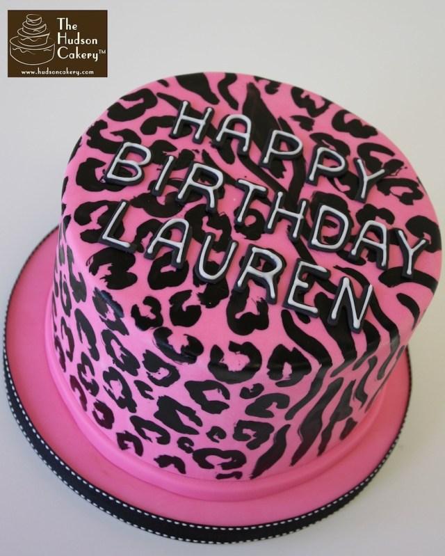 Cheetah Print Birthday Cakes Animal Print Birthday Cake The Hudson Cakery