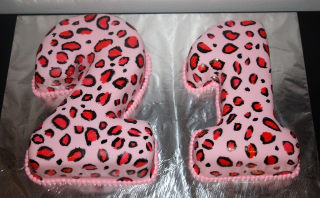 Cheetah Print Birthday Cakes Jacquelines Sweet Shop Pink Cheetah Print 21st Birthday Cake