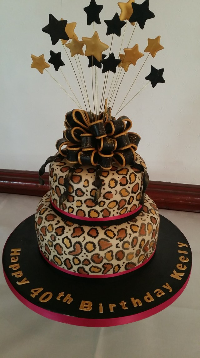 Cheetah Print Birthday Cakes Leopard Print 40th Birthday Cake The Clever Little Cake Company