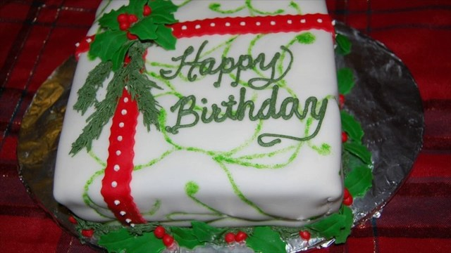Christmas Birthday Cake Christmas Birthday Cake Youtube