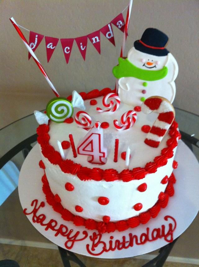 Christmas Birthday Cake December Birthday Cake Parties Pinterest Birthday Birthday