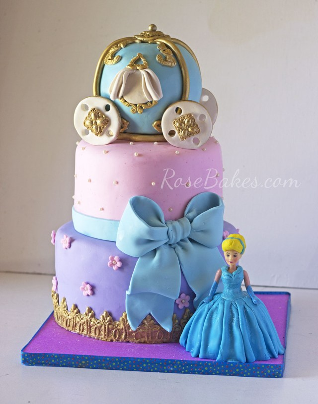 Cinderella Birthday Cakes A Cinderella Carriage Cake For A Very Special Little Girl Rose Bakes