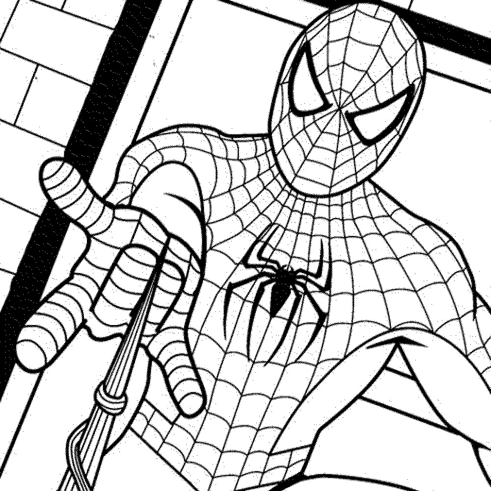 Coloring Pages Spiderman Printable Coloring Pages Spiderman Cardattraction