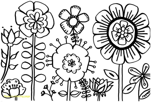 Coloring Pages Spring Flowers Coloring Page With Spring Flower Pages Printable Best Of