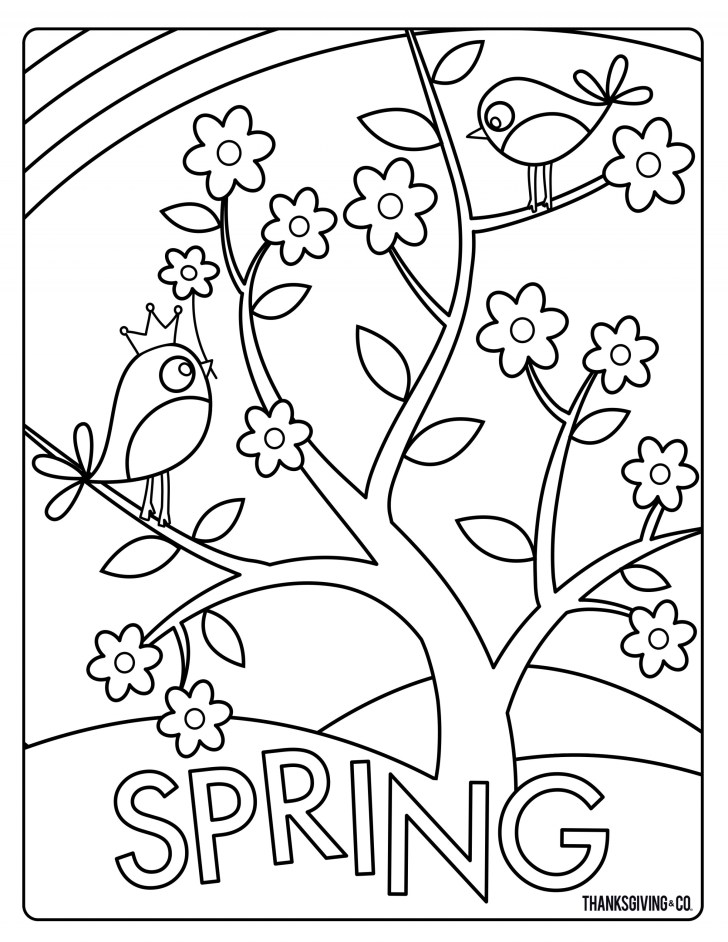 27+ Elegant Image of Coloring Pages Spring