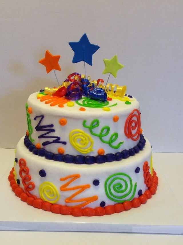 Crazy Birthday Cakes Colorful Fun Birthday Cake Cakecentral