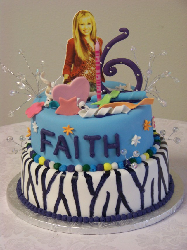 Crazy Birthday Cakes Hannah Montana Wild And Crazy Birthday Cake A 2 Tier Wild Flickr