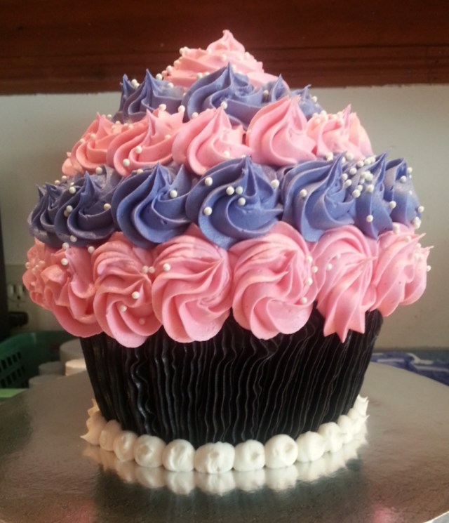 Cupcake Birthday Cake Giant Cupcake Birthday Cake Cakecentral