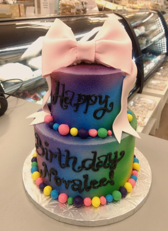 Custom Birthday Cake Bubble Gum Rainbow Birthday Cake Goodies Bakery