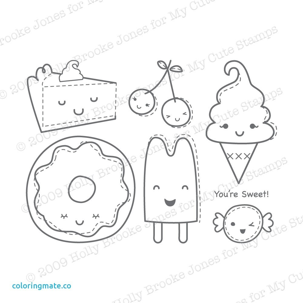 Cute Food Coloring Pages Cute Kawaii Food Coloring Pages At