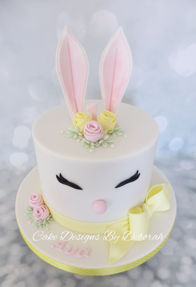 Designer Birthday Cakes Easter Bunny 1st Birthday Cake Cake Designs Deborah Kawaii