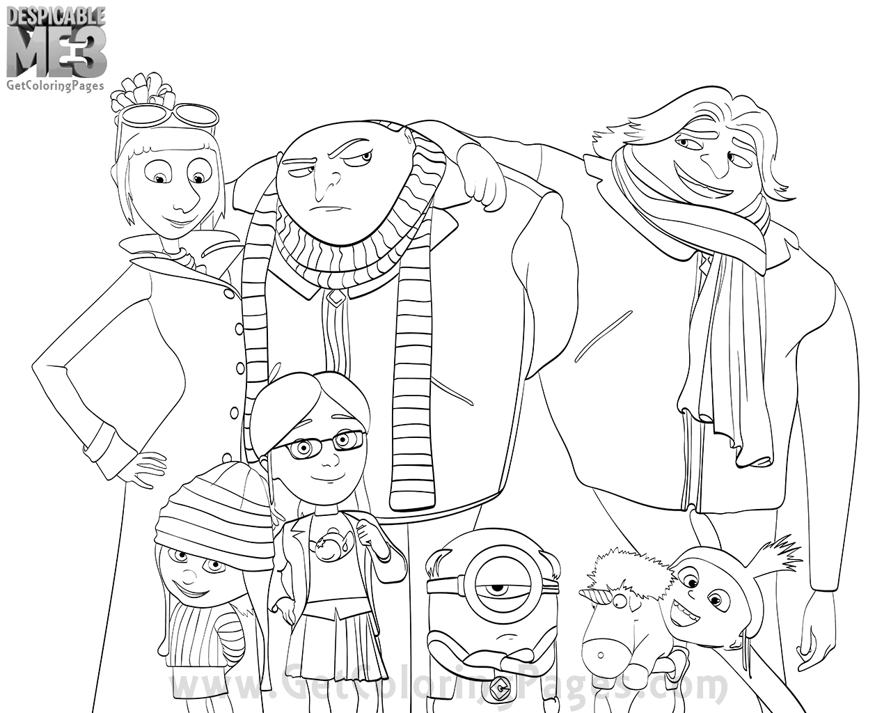 Creative Photo Of Despicable Me 3 Coloring Pages