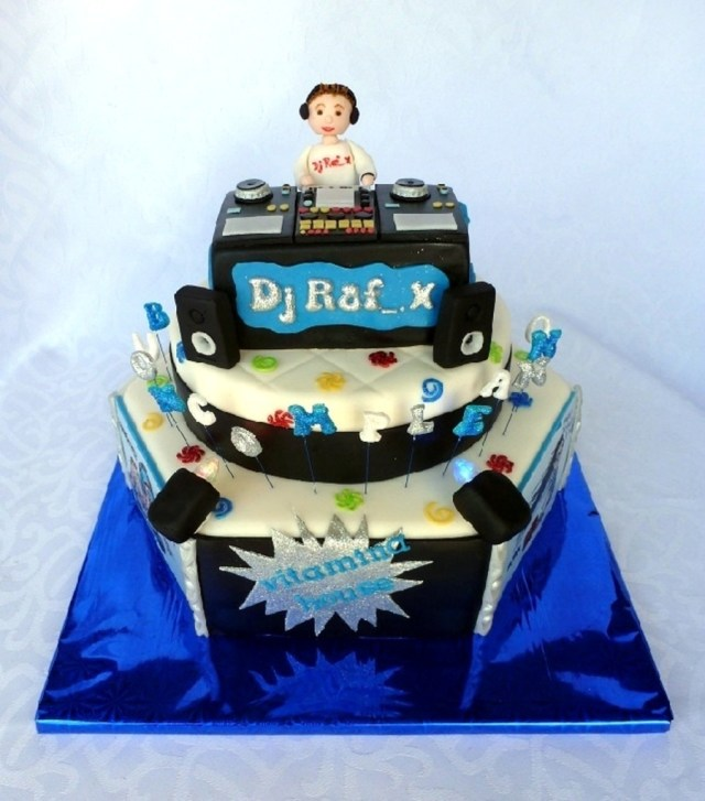 Dj Birthday Cake Dj Cake With Lights Cakecentral