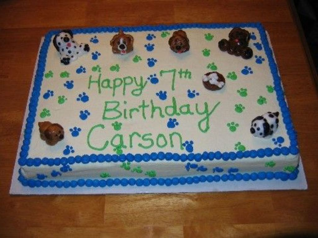 Dog Themed Birthday Cake Theme Cakecentral