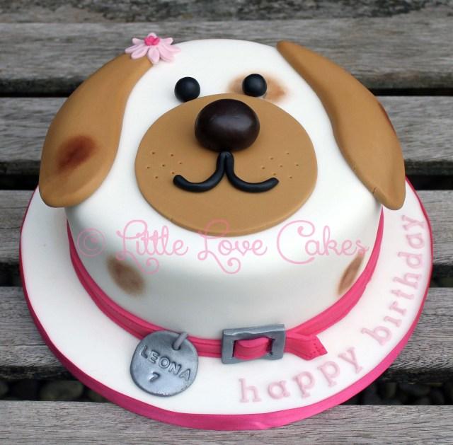 Dog Themed Birthday Cake Little Love Cakes Cute Dog Face Cake Pasteles Pinte