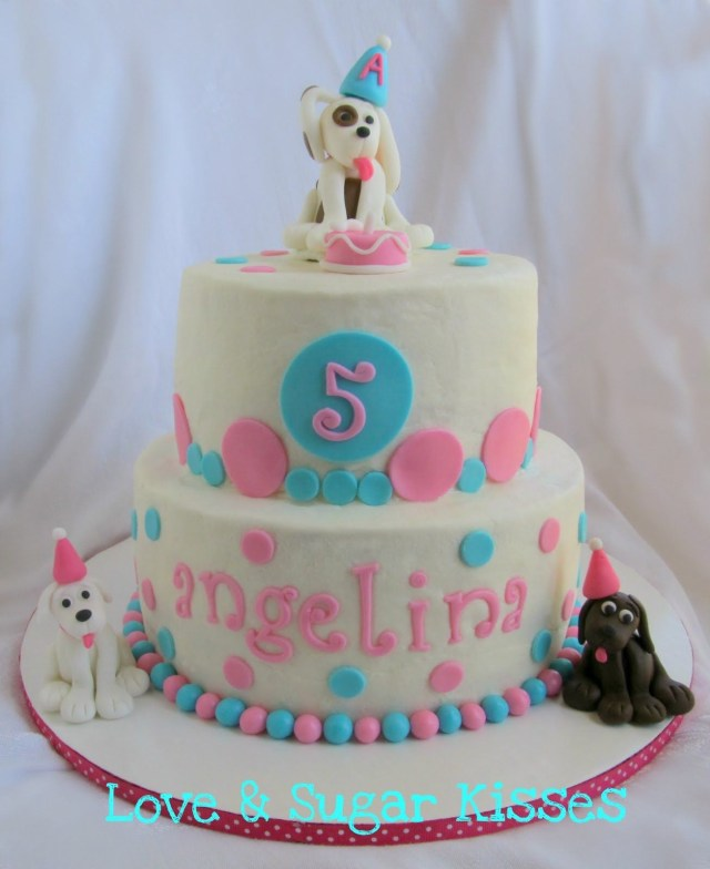 Dog Themed Birthday Cake Love Sugar Kisses Puppy Party Cake Birthday Ideas In 2018