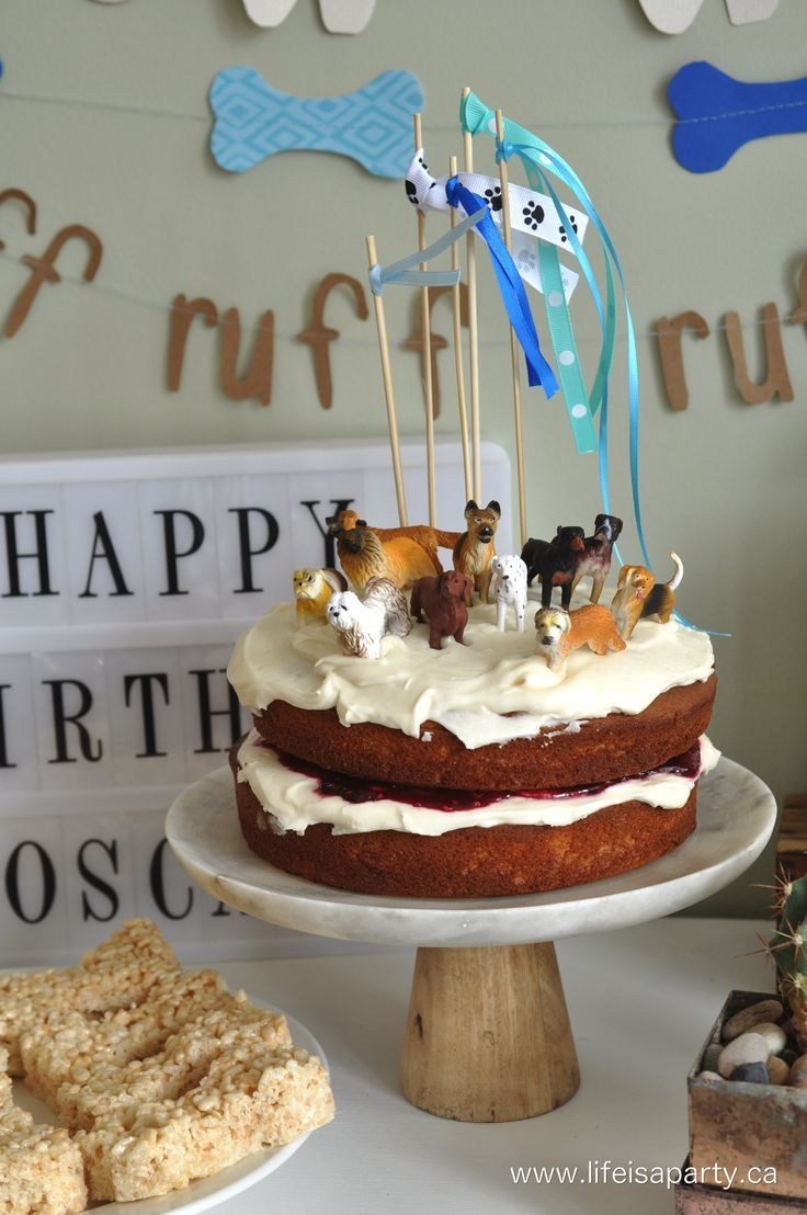 Dog Themed Birthday Cake Puppy Party Easy Ideas For A Humans And