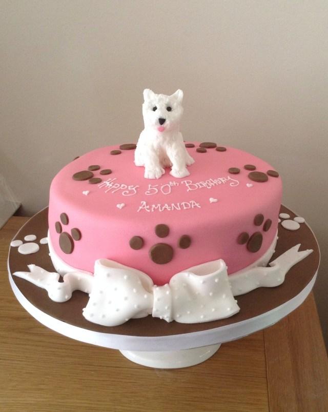 Dog Themed Birthday Cake Westie Dog Lovers Cake Cake Decorating In 2019 Pinterest Cake
