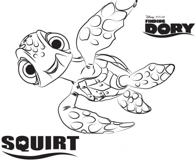 Dory Coloring Pages Disneys Finding Dory Coloring Pages Sheet Free Disney Printable