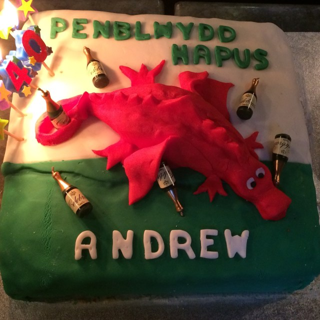 Dragon Birthday Cake 40th Birthday Cake Drunken Welsh Dragon Vanilla Cake Its Not