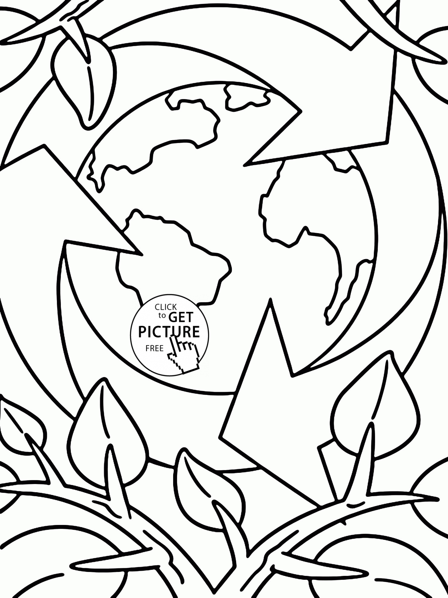 Earth Coloring Pages Coloring Page Earth Day Coloring ...