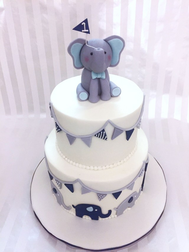 Elephant Birthday Cakes Ba Boy Elephant 1st Birthday Cake Sweet Lias Cakes Treats