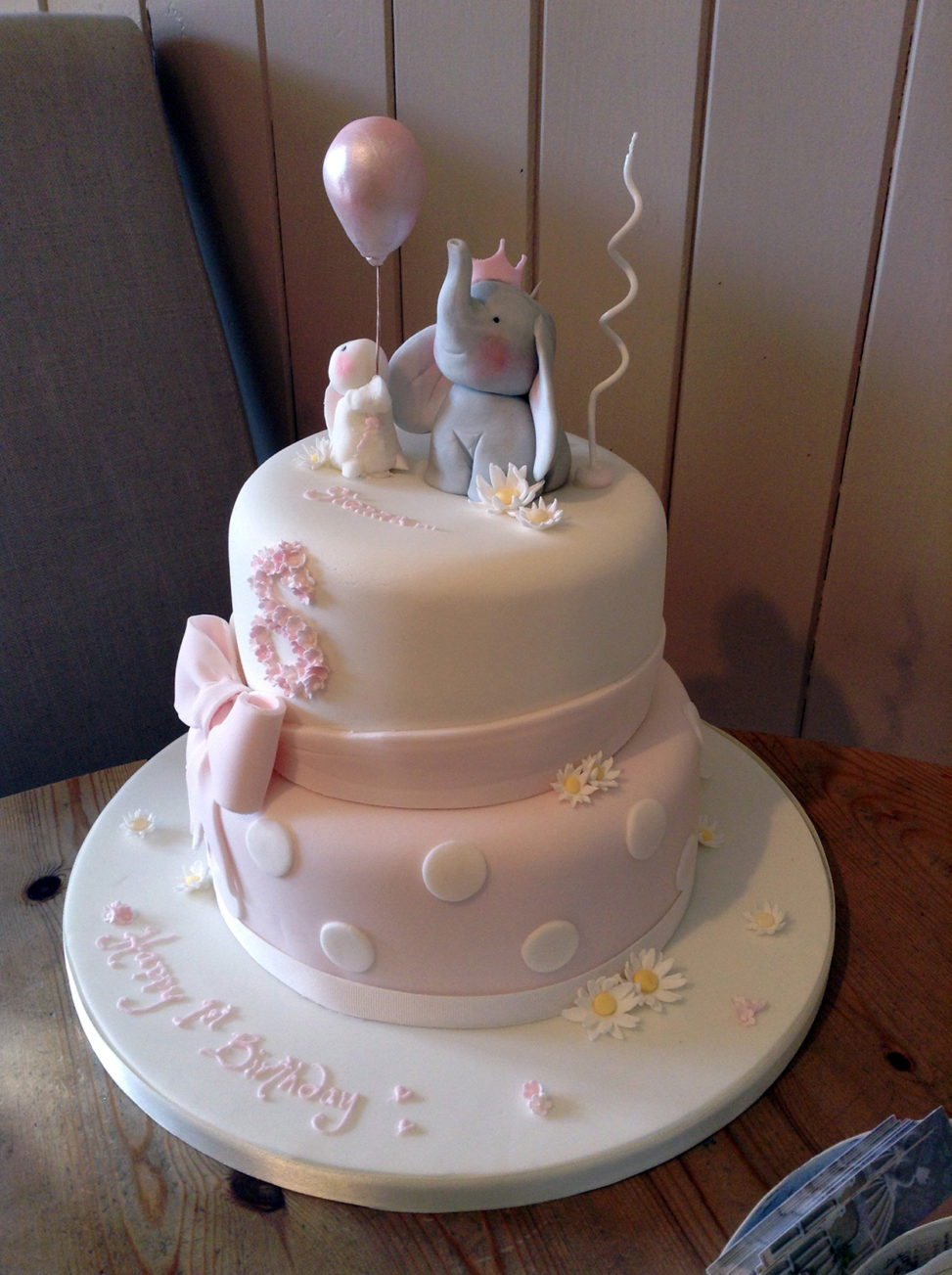 Elephant Birthday Cakes Ba Elephant Birthday Cake The Wedding Cake
