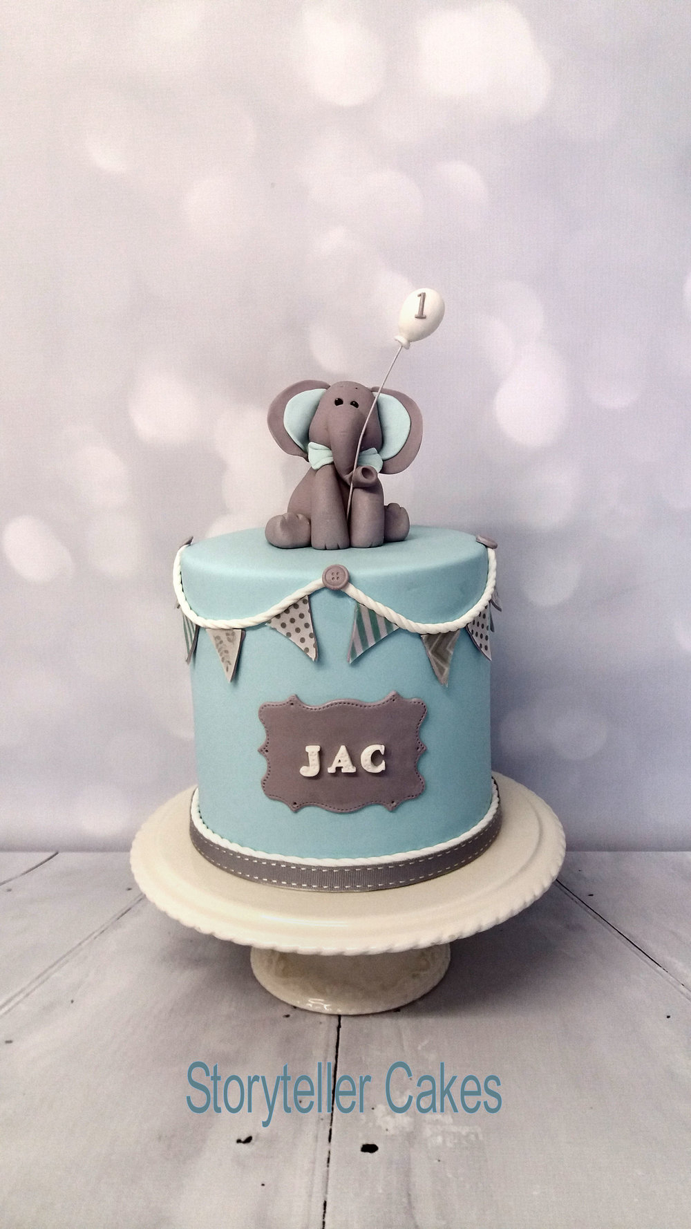 Elephant Birthday Cakes Christening Ba Shower Cakes Storyteller Cakes