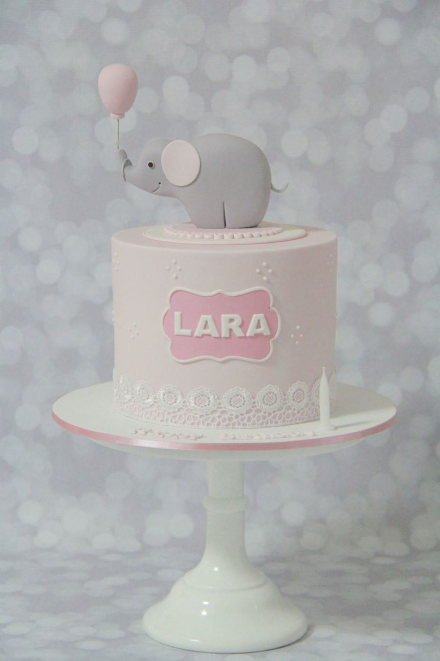 Elephant Birthday Cakes Elephant Themed First Birthday Cake Cakecentral