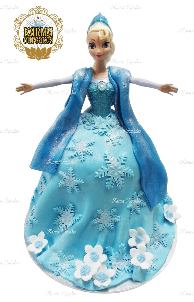 Elsa Birthday Cake 3d Elsa Doll Birthday Cake