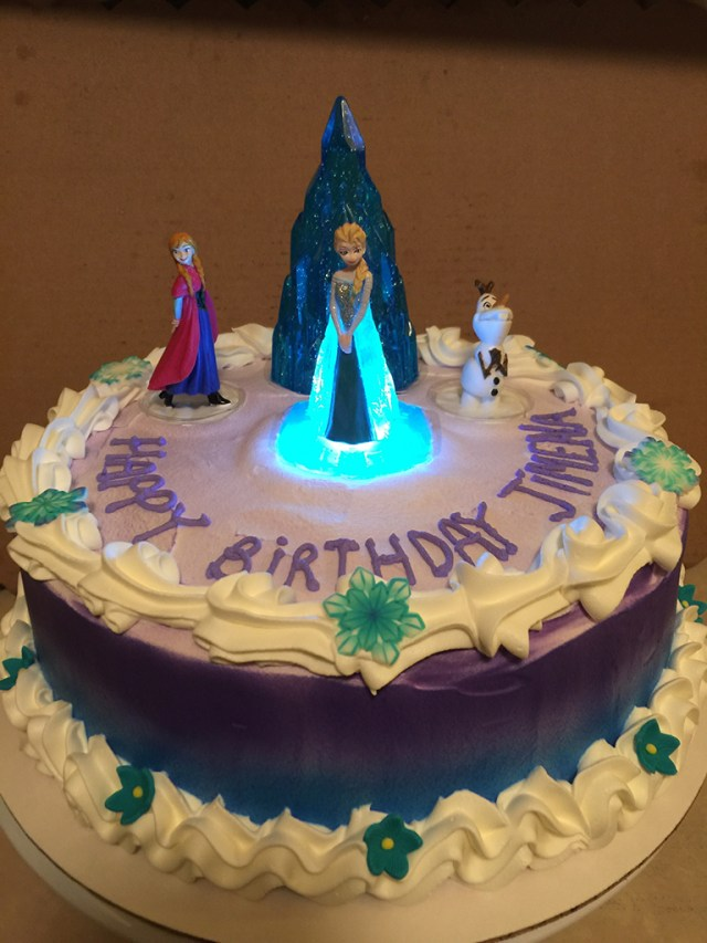 Elsa Birthday Cake Frozen Light Up Elsa Birthday Cake Sweet Tasty Bakery