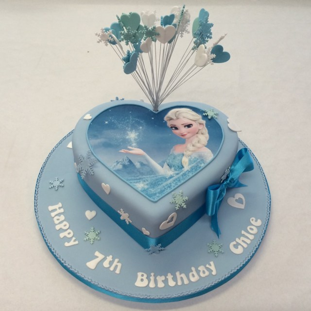 Elsa Birthday Cake Heart Shaped Frozen Cake Girls Birthday Cakes Celebration Cakes
