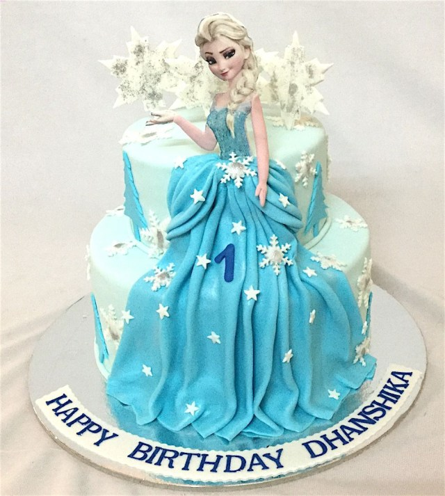 Elsa Birthday Cake Online Customized Cakes Delivery I Bangalore L Theme Cakes L Miras