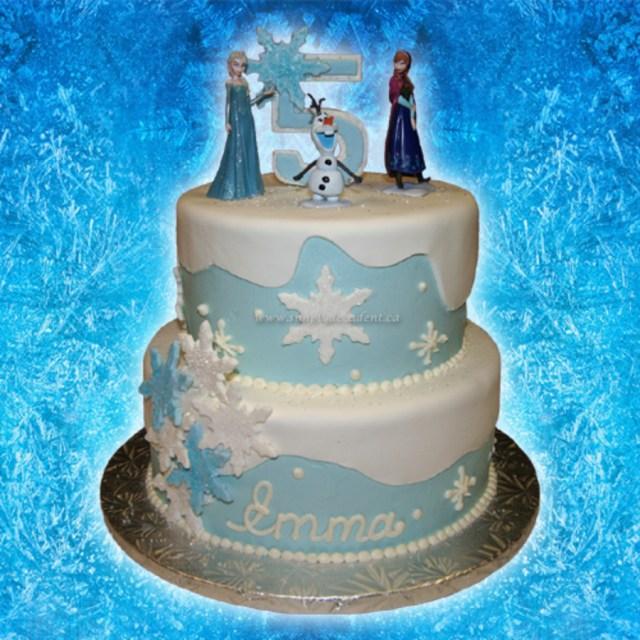 Elsa Birthday Cakes 2 Tier Buttercreamfondant Disney Frozen Birthday Cake With Anna Elsa