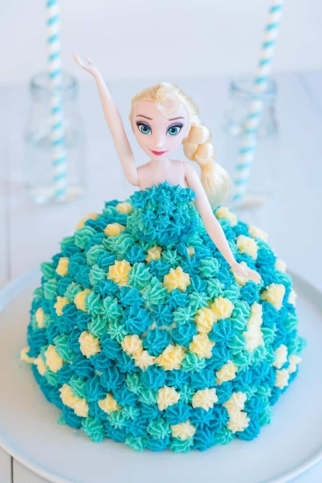 Elsa Birthday Cakes Elsa Cake Easy Diy Birthday Cake Tutorial My Kids Lick The Bowl