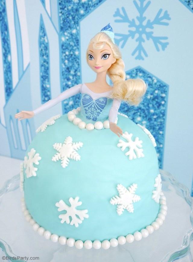 Elsa Birthday Cakes How To Make An Elsa Doll Birthday Cake Party Ideas Party