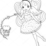 Fairy Coloring Page Tooth Fairy Coloring Page Stock Vector Malyaka 50002443