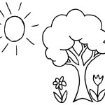 Fall Tree Coloring Pages Spring Tree Coloring Page At Getdrawings Free For Personal Use