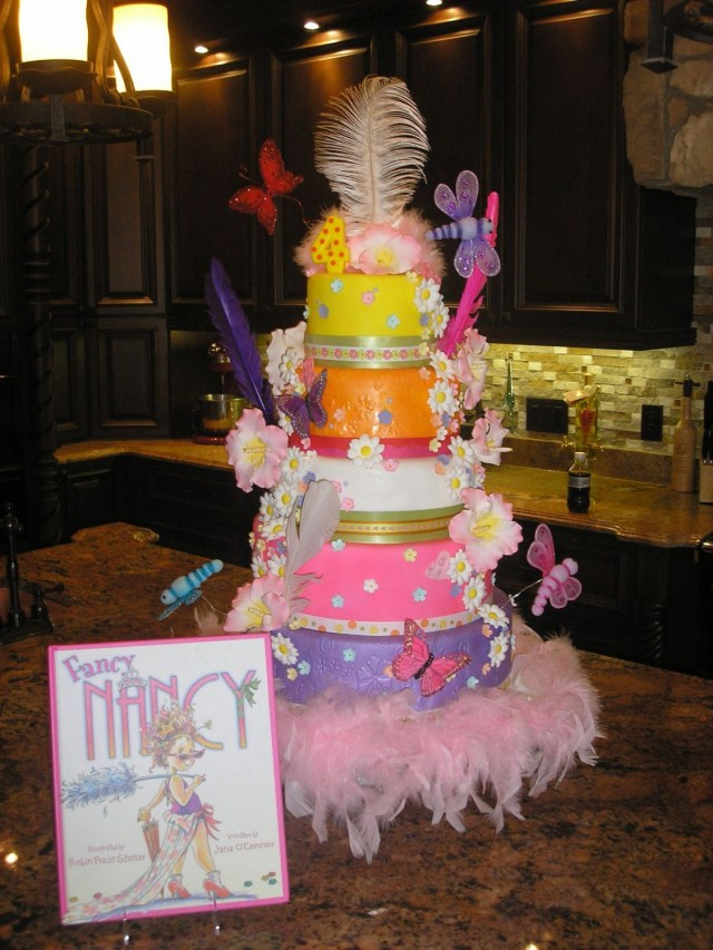 Fancy Birthday Cake Fancy Nancy Birthday Cake This Is A Cake I Made For My Daughters
