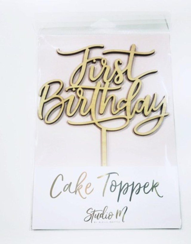 First Birthday Cake Topper First Birthday Cake Topper Stash Apparel And Gifts