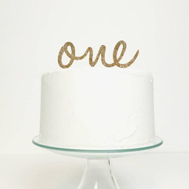 First Birthday Cake Topper One First Birthday Cake Topper In 2018 Livias First Birthday