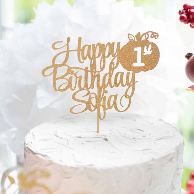 First Birthday Cake Topper Pumpkin One Cake Topper One Cake Topper First Birthday Cake Topper