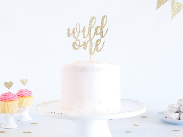 First Birthday Cake Topper Wild One Cake Topper Glitter 1st Birthday Smash Cake Topper