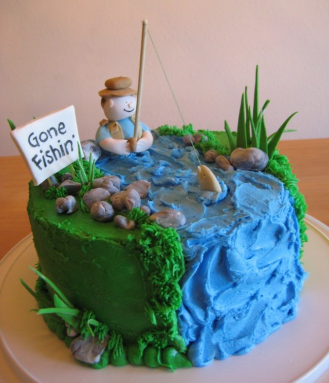 Fishing Birthday Cakes Fishing Birthday Cakes