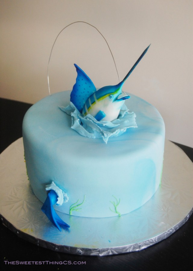 Fishing Birthday Cakes Marling Fishing Birthday Cake Cakecentral